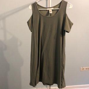camo green casual dress